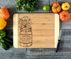 Mason Jar Personalized Cutting Board HDS