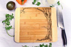 Tree Heart Personalized Cutting Board HDS