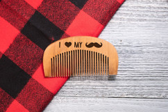 Engraved Comb - I Love My Stache
