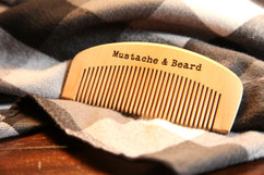 Engraved Comb - Mustache & Beard