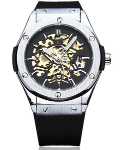 Stainless Steel Skeleton Luxury Chronograph Timepiece Watch W#47 - Vulcan