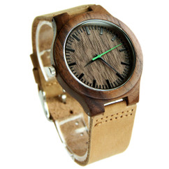 Wood Engraved Watch W#84 - Urban