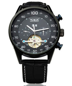 Luxury Mechanical Black Stainless Steel Watch - Apollo