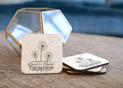 Personalized Coaster Set - Dandelion Center