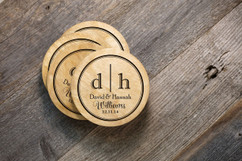 Personalized Coaster Set - Two Initial Family
