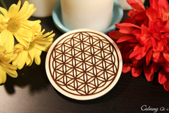 Personalized Coaster Set - Flower Of Life