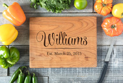 Cherry Personalized Cutting Board ~ Family Name