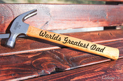 Engraved Hammer - Worlds Best Dad