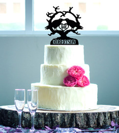 Personalized Cake Topper - Crows