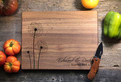 Walnut Personalized Cutting Board ~ Dandelion