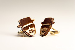 Engraved Wood Cuff Links - Breaking Bad