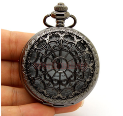 Engraved Men Vintage Mechanical Pocket Watch W#14.5