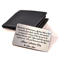 LUX - Personalized Wallet Card - Valentines Day