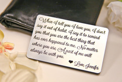 LUX - Personalized Wallet Card  - When I Tell you I Love You