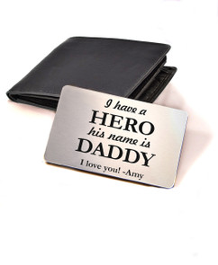 LUX - Personalized Wallet Card  - Daddy Hero