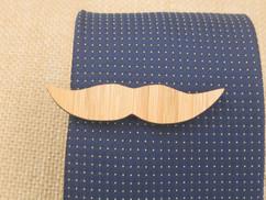 Wooden Tie Clip - Mustache Cutout