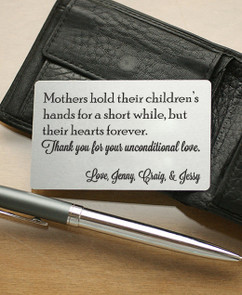 LUX Personalized Wallet Card  - Mother's Hold