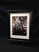 Framed Praying Skull Print