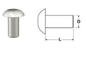 """3/16"""" D x 3/8"""" L Universal Head Aluminum Rivets - 1/4 LB Bag"""
