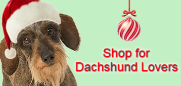 Shop for Dachshund Lovers Wirehair in Santa Hat