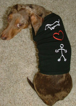 Stick Figure Love Dachshund Dog T-Shirt