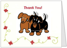Dachshund Thank You Note Card