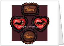 Dachshunds and Chocolate Note Card