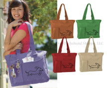 Dachshund Tote Bag Super Feature Dachshund Purse