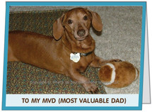 Dachshund Most Valuable Dad Father's Day Card