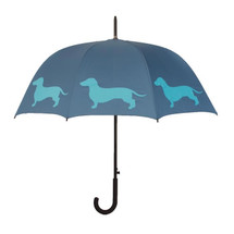 Dachshund Walking Stick Umbrella / Blue