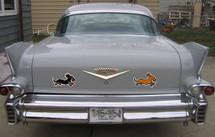 Longhair Dachshund Car Magnet