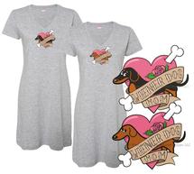 Wiener Dog Mom Tattoo Dachshund Sleep Shirt