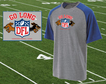 Dachshund Go Long Football T-Shirt