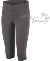 Dachshund Wahoo Warrior Foldover Practice Capris