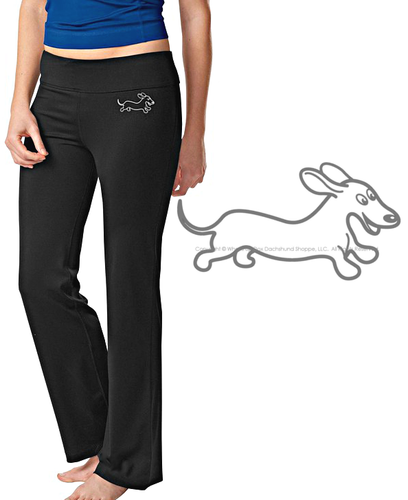 Dachshund Workout Pants Wahoo Warrior Fit & Fab Workout Pants