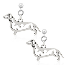 Dachshund Jewelry Sterling Silver Earrings