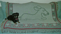 Wahoo Wiener Dachshund Throw Blanket