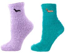 Dachshund Socks, dachshund sleep socks, dachshund fuzzy socks, spa socks, fuzzy socks, comfy socks warm socks, wiener dog socks