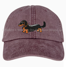 Dachshund Ball Cap, Wiener Dog Hat, Dachshund Hat, Embroidered Dachshund Baseball