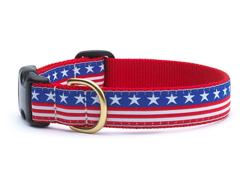 Dachshund Stars and Stripes USA Patriotic Dog Collar and Leash