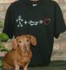 Stick Figure Love Dachshund T-Shirt