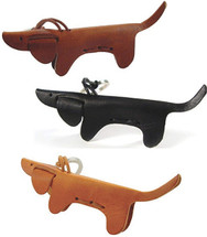Italian Leather Dachshund Key Chains