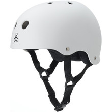 Triple Eight Brainsaver Rubber Helmet with Sweatsaver Liner - White Rubber