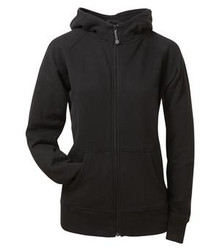 ATC  ALLPRO COTTON FLEECE FULL ZIP HOODED LADIES' SWEATSHIRT - Black