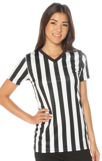 """Relaxed Fit """"Classic"""" Vneck Ladies Referee Shirt"""