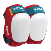 TSG Force III Oldschool Knee Pad - One Pair RED
