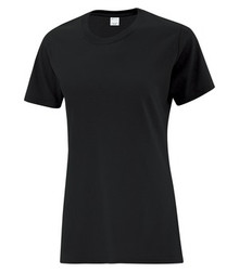 ATC1000L EVERYDAY COTTON LADIES' TEE (ATC1000L) - Black