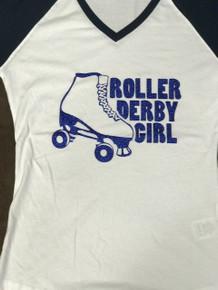 ROLLER DERBY GIRL/SKATE