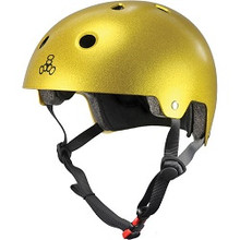 Triple Eight Brainsaver Metallic Dual Certified with EPS Liner Helmet - Gold Flake