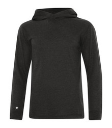 KOI TRIBLEND LONG SLEEVE HOODED TEE - KOI8031 - Charcoal Triblend